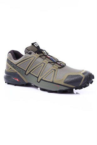 SALOMON SPEEDCROSS 4 ERKEK KOSU AYAKKABISI-Grape Leaf/Burnt Olive/Black